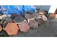 Hexagon paving slabs