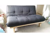 Futon frame and mattress - two seater in great condition