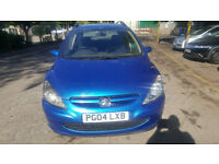 PEUGEOT 307 SW DIESEL ESTATE 5 SEATS. MOT OCTOBER. 2004. 165000 MILES. BLUE