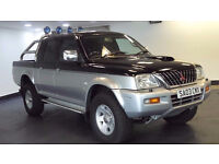 2003 03 MITSUBISHI L200 2.5 4LIFE LWB DCB 4WD 1D DIESEL*PART EX WELCOME*24 HOUR INSURANCE*WARRANTY*