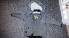 Tu boys Grey Coat