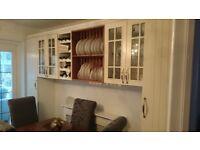 Kitchen units, oven, hob, extactor, sink & solid oak worktop