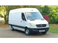 MERCEDES SPRINTER LWB HIGH ROOF ONLY 96K ONE OWNER 12 MONTH MOT FSH FORD TRANSIT IVECO DAILY