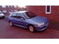 2000 W REG PEUGEOT 306 1.4 MOT FEB BEAUTIFUL CONDITION THROUGHOUT LOW MILEAGE £395