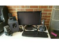 """Dell 19"""" monitor and speakers"""