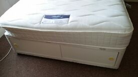 Silent night memory foam double mattress and base with storage underneath