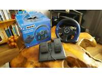 Hori Ps3/Ps4 racing wheel new never used