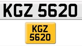 KGZ 5620 private cherished personalised personal registration plate number