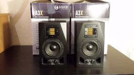 Adam Audio A3X Active Powered Professional Studio Monitor Pair