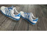 Adidas Original Superstar blue trainers size 5.5 good condition