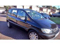 Vauxhall Zafira 1.6l ** 7 Seater MPV** MOT until 21 September 2017, In Lovely Black the best colour