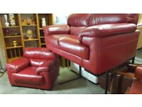 TOP QUALITY ITALIAN LEATHER VIOLINO SOFA AND CHAIR