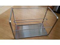 Heavy duty dish drain rack stainless steel
