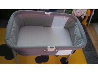 Chicco Lullago Crib in Silver/ Grey RRP £99.99 GET FREE SHEETS SMOKE & PET FREE