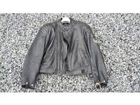 Extra Large XXXL Motorbike Jacket Black Leather