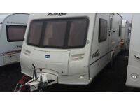 2005 FIXED DOUBLE BED BAILEY PAGEANT BORDEAUX. SPOTLESS CONDITION EVERYTHING WITH VAN. BARGAIN
