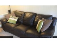 Italian Dark Brown Full Lether Sofa.