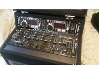 Denon DJ mixer & Denon twin c d player