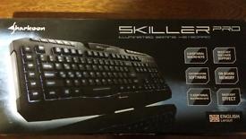 Illuminated gaming keyboard Sharkoon Skiller Pro