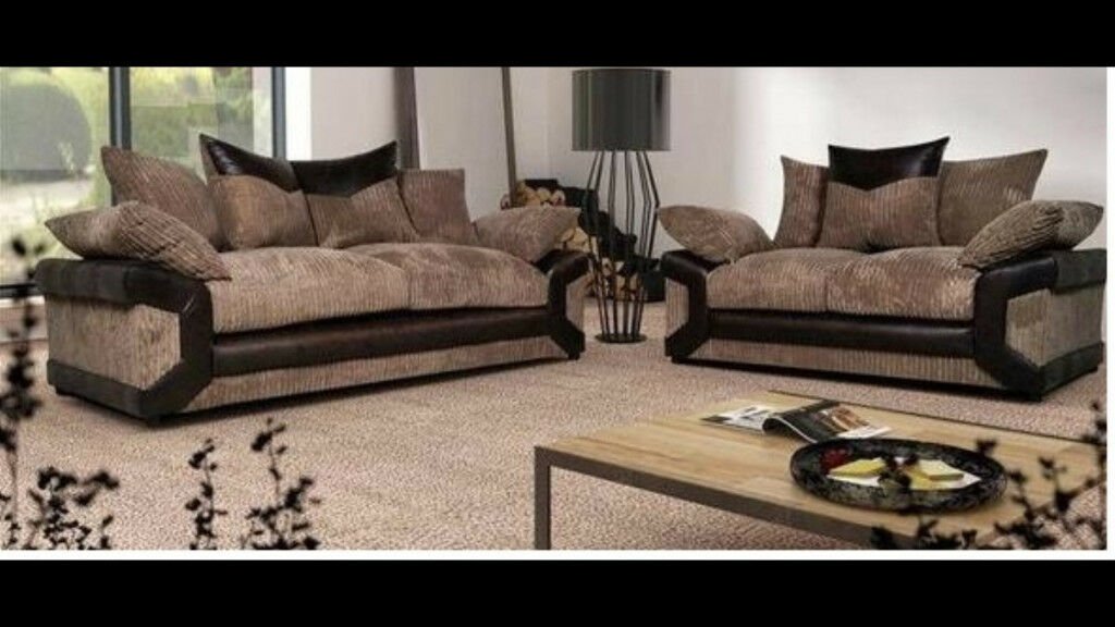 Brand New Dino 3 and 2 seater sofa with free foot stool