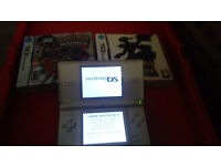 Nintendo DS Lite With Two Games