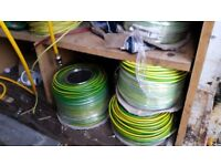 25 x mts 10 mm equipotential earth bonding cable Green & Yellow