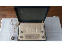 Vintage suitcase radio