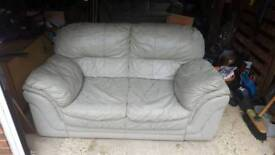 2 seater and 3 seater faux leather sofa.