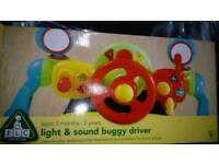 Pram buggy toy steering wheel