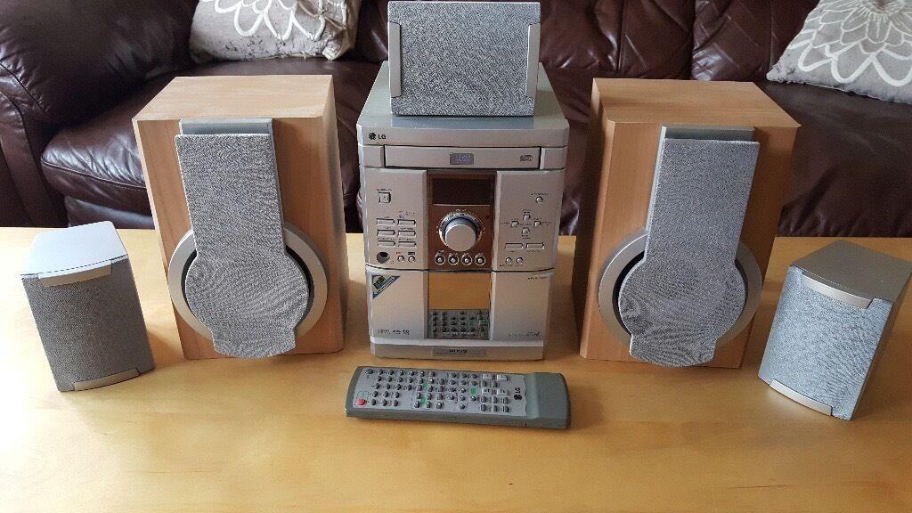 Lg F Dv25 Dvd Hifi Surround Sound Home Cinema System In