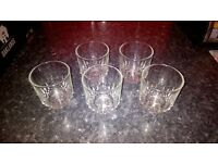 5 GLASS TUMBLERS. CHEAP, GREAT CONDITION.