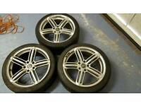18 inch audi rs alloys pcd 5x112 only 3