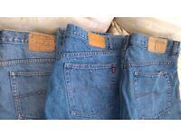 Mens denim jeans x3 pairs size W38