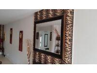Wooden Wide Mirror