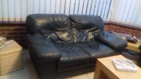 Two Seater Green Leather Settee FREE FREE FREE FREE