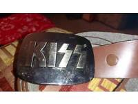 Kiss buckled, leather belt