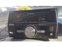 Pioneer double din stereo £100 Bluetooth hands free calls and usb port for music