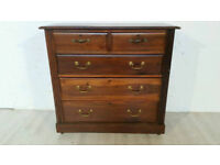 Antique Solid Wood Chest of Drawers