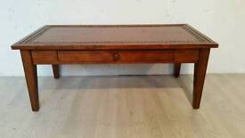 Solid Wood Coffee Table with Stone insert