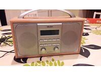 RADIO BUSH DAB/ FM STEREO IN A WOODEN CABINET