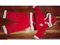 Boy Christmas Santa Outfit Clothing size 12-18 months