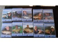 10 x Fishing DVD's