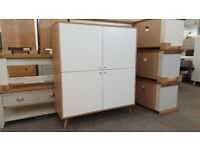 Julian Bowen Moritz 4 Drawer Chest White & Oak Can Deliver