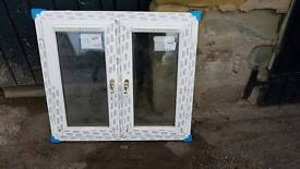 New Double glazed white pvc window