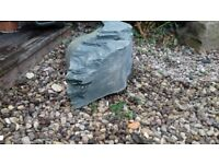VERY LARGE AND HEAVY CORE DRILLED POND PIECE OF WELSH SLATE