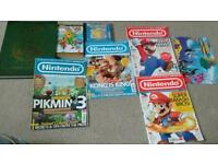 Bundle of Nintendo ,Pokemon, mario, Zelda books and magazines
