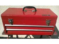 Red metal 2 Drawer Toolbox