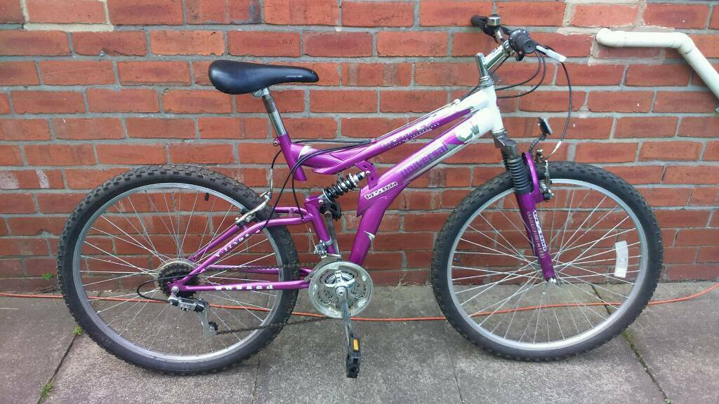 Adults universal mountain bike 18 inch frame good condition and ready to ridein Sunniside, Tyne and WearGumtree - 26 inch wheels with good tyres, 15 speed gripshift gears, dual suspension, good brakes, good seat, can deliver for cost of fuel, contact bill 07478309256 sunniside NE16 5NU