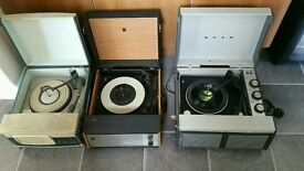 Joblot of vintage record players