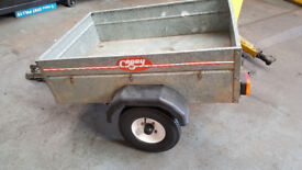 4x3 Galvanized car trailer